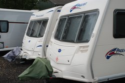 Vehicle storage/outside storage: Caravan Storage Pershore, Throckmorton, Worcestershire, WR10