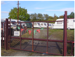 Vehicle storage/outside storage: Riverside Caravan Storage, Glossop, Derbyshire, SK13
