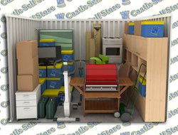 Self storage/furniture storage: Castle Self Storage, Burnley, Hapton, Lancashire, BB12