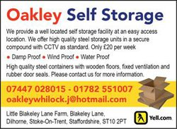 Commercial storage: Oakley Self Storage , Dilhorne, Staffordshire, ST10