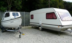 Vehicle storage/shipping container: Car and Caravan storage, Sladesbridge, Cornwall, PL27